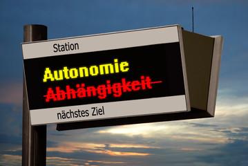 Anzeigetafel 4b - Autonomie