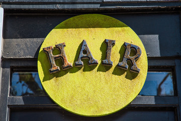 Bold Colored Hair Sign