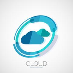 Cloud storage, 3d company logo, minimal design