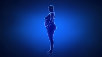 Obesity and helathy life style concept lateral view