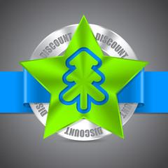 Christmas discount badge design