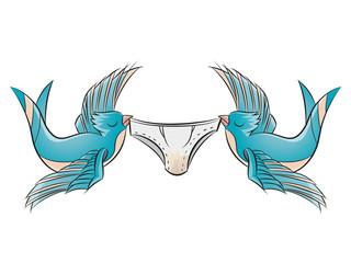 schwalbe tattoo unterhose fliegen vogel