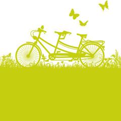 Fahrrad und Tandem