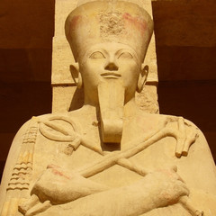 Pharaoh Sculpture from Mortuary Temple of Hatshepsut - Egypt