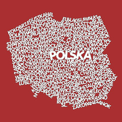 word cloud map of Poland
