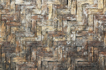 Grunge basketwork texture bamboo pattern