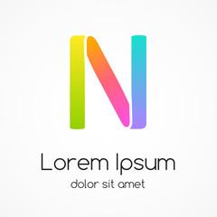 Logo letter N company vector design template.