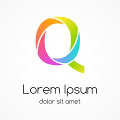 Logo letter Q company vector design template.