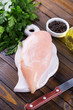 canvas print picture - Raw chicken meat