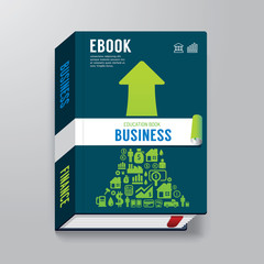 Book Cover business Design  Template / can be used for E-Book Co