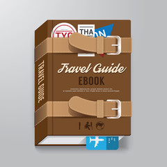 Book Cover Travel Guide Design luggage Concept Template / can be