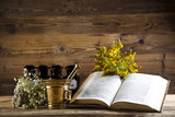 Fototapety Herbal medicine and book