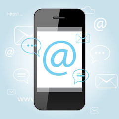 Mobile Phone, Mail app.