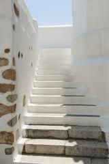 Treppe im Dorf Chora auf der Insel Astypalea, Dodekanes
