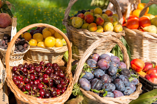 canvas print picture Natural fruits