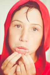 accappatoio rosso - red bathrobe