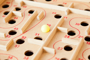 Puzzle game, focus on a ball