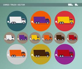 Cargo Truck & Delivery Van Vector Icon Set