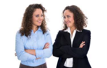 Frauenquote: erfolgreiches Business Team von zwei Frauen