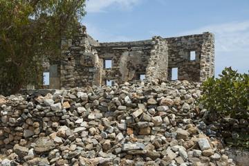 Ruinen des Kastells im Dorf Chora auf Astypalea, Dodekanes
