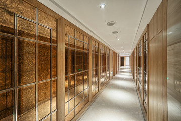 Modern office, corridor,antique decoration