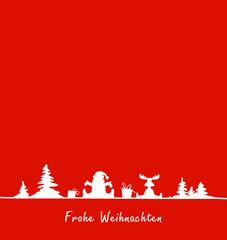 Weihnachtskarte abstrakt rot