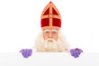 Sinterklaas with placard - 69574363