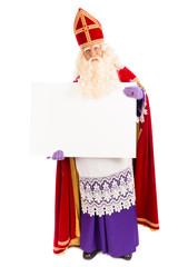 Sinterklaas with blank paper