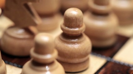 Close up shooting of a chess game