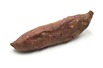 Sweet Potato burned isolated on white background