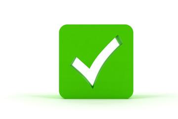 Green 3D check box