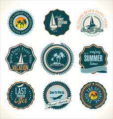 Travel retro labels collection