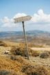 canvas print picture - Wegweiser auf der Insel Astypalea, Dodekanes