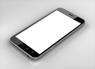 Blank screen custom  smart phone isolated