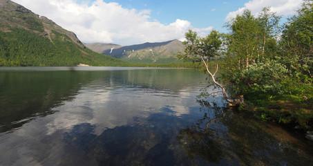Lake in the mountain. Panorama