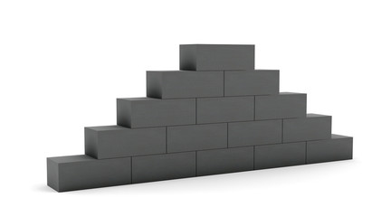 Concrete pyramid wall