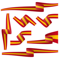 collection of spanish country flag banners