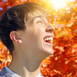 Teenager rejoices Autumn