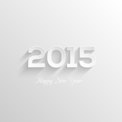 Happy new year 2015 creative greeting card design. Typographical