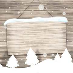 Christmas Wood Background Sign