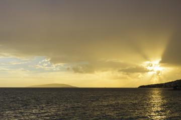 Golden sunset over the Adriatic Sea