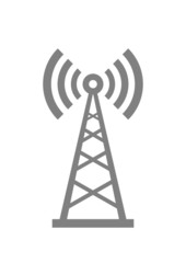 Grey transmitter icon on white background
