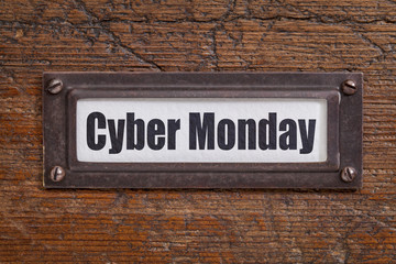 Cyber Monday - file label