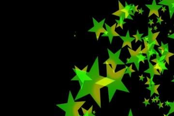 зелёные  звёзды