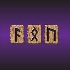 Norwegian Rune icons vector Set of three pieces