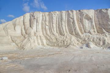 Sea salt at salt marsh landscape
