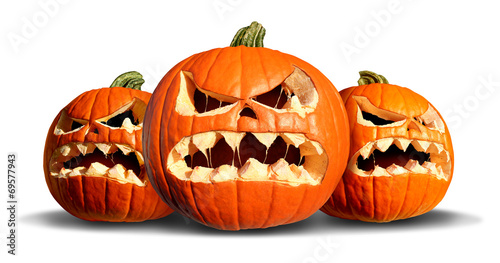 canvas print picture Pumpkin Monster Group