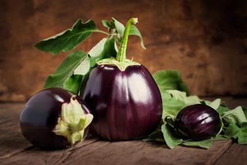 Composition with Three Eggplants, still life