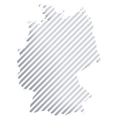 Karte von Deutschland in Streifen