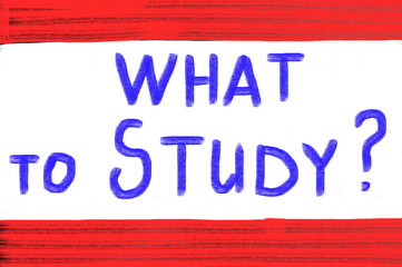 what to study concept